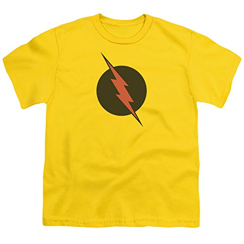 Justice League Of America DC Comics Reverse Flash Black Logo Big Boys T-Shirt (T-shirt Flash Reverse)