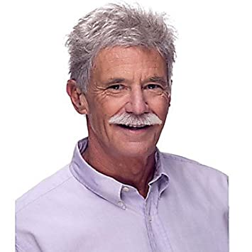 OOFAY JF® Europa y los Estados Unidos plata vieja moda peluca de color del hombre