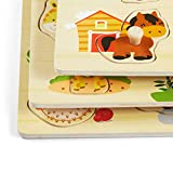 Orange Pieces Puzzles Toddler Learning Toys