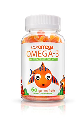 Coromega Omega 3, high - DHA  Gummy Fruits, 60-Count