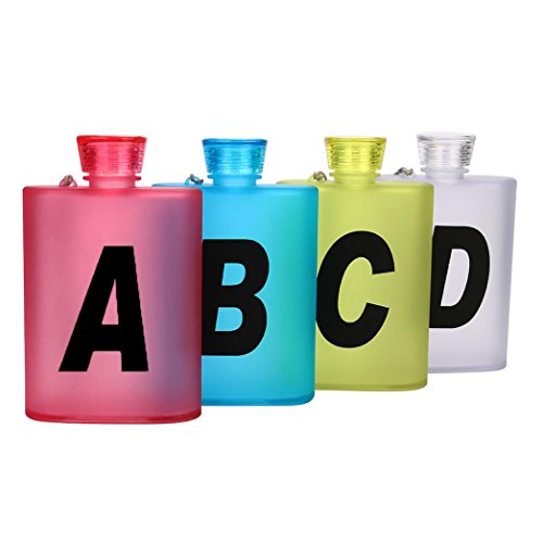 Nacome 400ml Plastic Portable Sports Water Bottle Travel Creative Kettle flagon Cup (B)