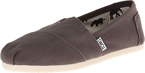 TOMS Women's Classic Canvas Slip-On,Ash,8.5 M US (Ash Slip On Sneaker)
