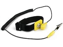 Rosewill ESD Anti-Static Wrist Strap Components RTK-002, Black/Yellow