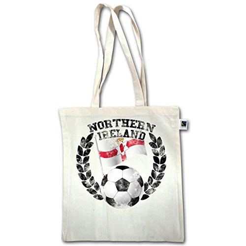 Calcio - Bandiera Dellirlanda Del Nord E Calcio Vintage - Unisize - Natural - Xt600 - Manici Lunghi In Juta Bag