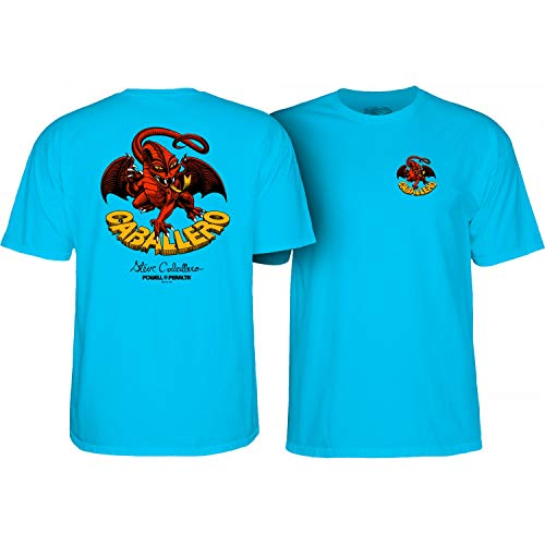 (Powell-Peralta Skateboard Shirt Cab Dragon II Turquoise Size L)