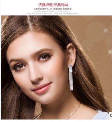 TKHNE autumn and winter 2018 exclusive design earrings 925 sterling silver ear wire tassels fashion long section sterling silver earrings Korean