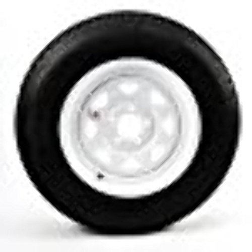 White Trailer Radial Mounted circle