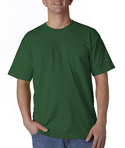 Bayside Mens Union Made Pocket Tee (3015) -Forest Green -S