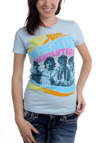 The Beatles - Womens Hey Jude Revolution T-Shirt, Size: Medium, Color: Heather ()