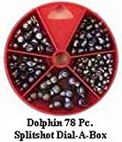 Dolphin 79 Pc. Split Shot Sinker Assortment Dial-A-Box