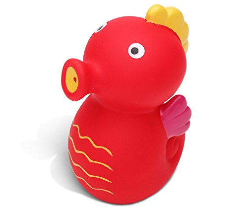 Puzzled Sea Horse Bath Buddy Squirter Red 3 Inch (Seahorse Squirter)