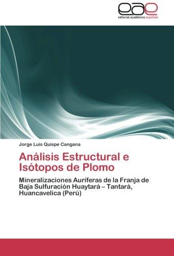 Descargar Libro Analisis Estructural E Isotopos De Plomo Quispe Cangana Jorge Luis