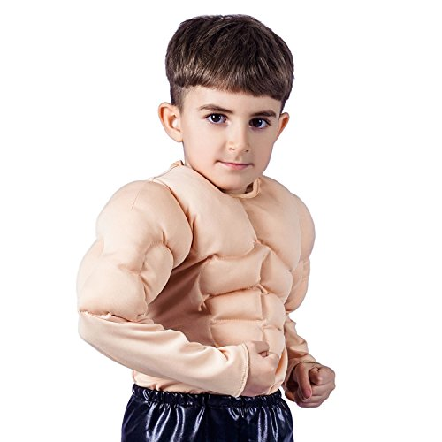 flatwhite Muscle Shirt Child Costume (S 4-6Y) -