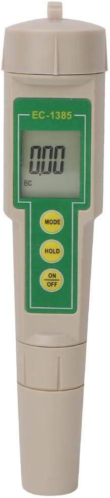 EC-1385 PH-m/ètre 3 in1 EC//CF//TDS Testeur//conductim/ètre de leau, PH-m/ètre num/érique de haute pr/écision de testeur deau 3 en 1 Capteur de graphite