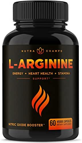 Premium L Arginine 1500mg Nitric Oxide Supplement - Extra Strength for Energy, Muscle Growth, Heart Health, Vascularity & Stamina - Powerful NO Booster Capsules with L-Arginine & L-Citrulline Powder