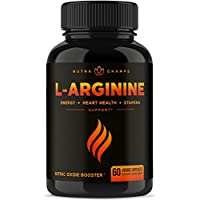 Premium L Arginine 1500mg Nitric Oxide Supplement – Extra Strength for Energy, Muscle Growth, Heart Health, Vascularity & Stamina – Powerful NO Booster Capsules with L-Arginine & L-Citrulline Powder
