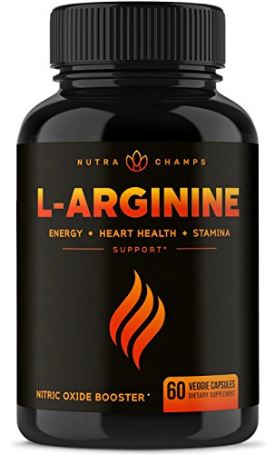 (Premium L Arginine 1500mg Nitric Oxide Supplement - Extra Strength for Energy, Muscle Growth, Heart Health, Vascularity & Stamina - Powerful NO Booster Capsules with L-Arginine & L-Citrulline Powder)