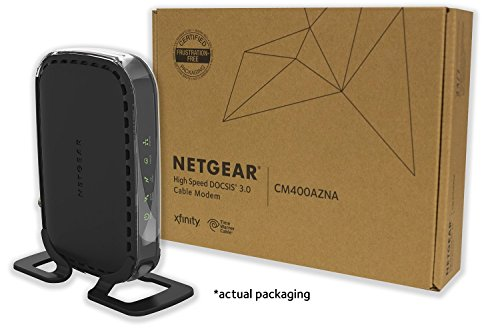 NETGEAR CM400 (8x4) Cable Modem DOCSIS 3.0 Certified for Comcast XFINITY, Time Warner Cable, Cox, Charter & more