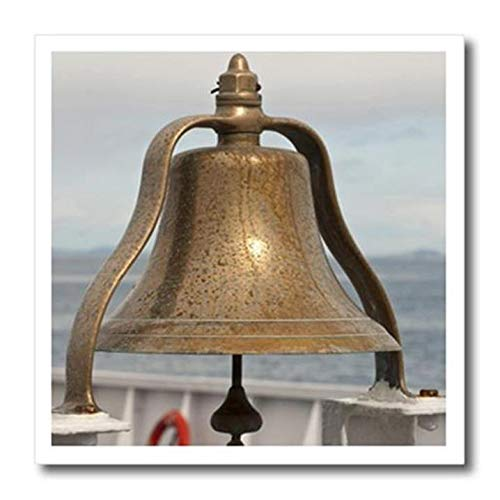 3dRose ht_148671_3 USA, Washington, Brass Ship Bell, Blackball Coho-Us48 Tdr0946-Trish Drury-Iron On Heat Transfer, 10 by 10