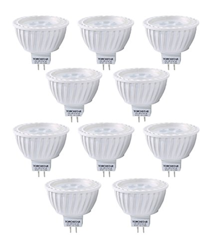 - 10pcs Pack AC/DC 12V 5W MR16 LED Bulb - 50W Equivalent 2700K Warm White LED Spotlight - 320 Lumen 36 Degree Beam Angle GU5.3 Base for Home, Recessed, Accent, Landscape, Track Lighting