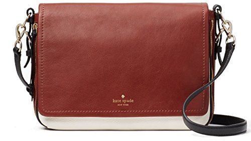 Kate Spade Cobble Hill Myra Leather Bag , Port Brown - Black - Cement