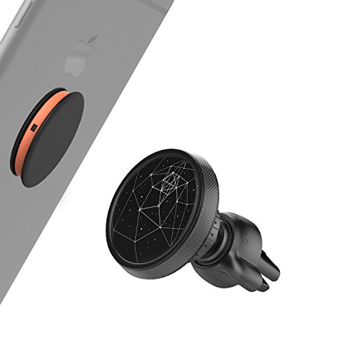 Price comparison product image Air Vent Magnetic Car Mount [Sturdy Twist Lock] for Pop Socket Holder Stand Women & Men Users for iPhone X 8 Plus 7 6S 6 5S SE, Android Cell Phone Car Mount (Black, Starry Sky Night)