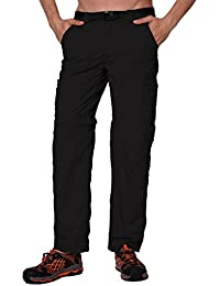 Men's Standard Quick-Dry Convertible Nylon Trail Pants With Zip-Off Short