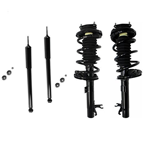 All (4) Complete Front Strut Assembly Set & Rear Shock Absorber Pair - NOT FOR WAGON - [2000 2001 2002 2003 2004 2005 Ford Focus]