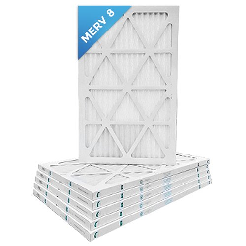 14x24x1 Merv 8 Pleated AC Furnace Air Filters. Box of 6 by Filters Delivered