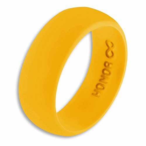 Honor Eternity Ring Men's Silicone Ring Rubber Wedding Band (Dark Goldenrod, 9)