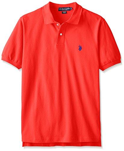 Fire Logo Shirt - U.S. Polo Assn. Men's Classic Polo Shirt, Crimson Fire, M