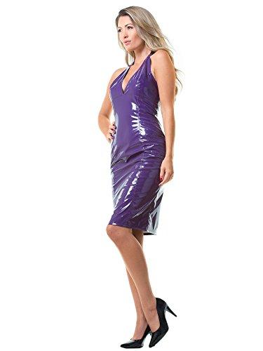 Penelope US 20 UK en Fourreau 22 Noir Robe Violet 4XL PVC 50 EU pBtUqf
