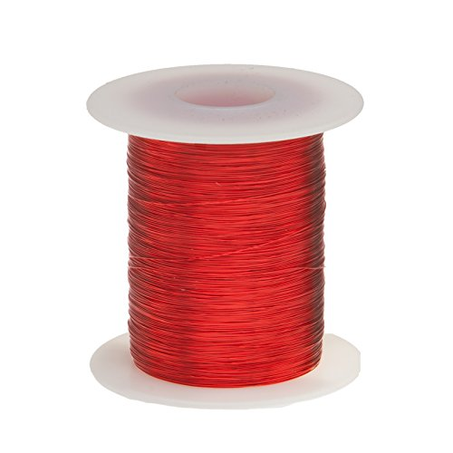 Coil Of Wire - Remington Industries 28SNSP.25 28 AWG Magnet Wire, Enameled Copper Wire, 4 oz., 0.0135