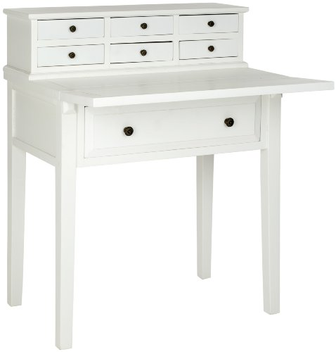 amazoncom safavieh american homes collection abigail fold down desk white kitchen u0026 dining