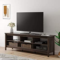 Farmhouse Living Room Furniture Farmhouse Wood TV Stand for 75 inch Flat Screen, Media Console Storage Cabinet, Entertainment Center for Living Room… farmhouse tv stands