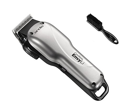 Andis Cordless Envy Li Adjustable Blade Clipper with The Classic Barber Blade Brush Bundle by Andis