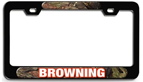 - Makoroni - BROWNING Hunting Bl Steel License Plate Frame - License Tag Holder 3D Design