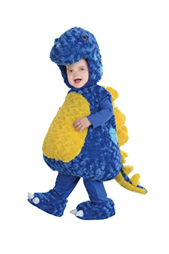 (Underwraps Toddler's Stegosaurus Belly Babies Costume, Blue/Yellow, Medium)