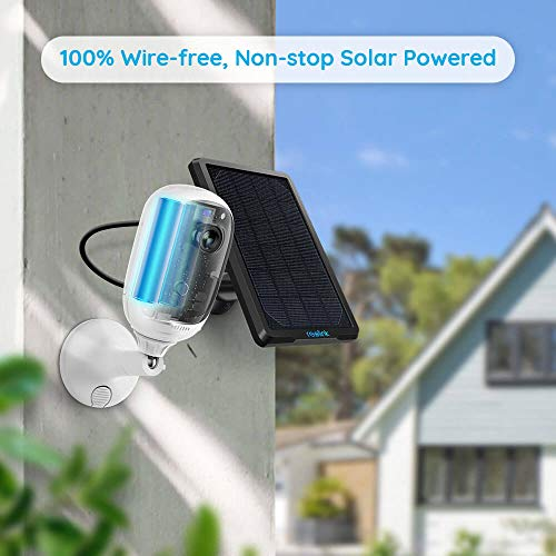 REOLINK Outdoor Security Camera Wireless Rechargeable Battery 1080P Home Surveillance Support Cloud Google Assistant Night Vision PIR Motion Detection SD Slot | Argus Pro with Solar Panel