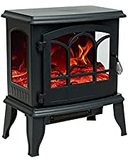 FLAME&SHADE Electric Fireplace Stove, 51cm Portable Freestanding Space Heater for Indoor use