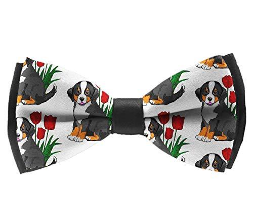 Elegant Adjustable Pre-tied bow ties for Men Boys Bernese Mountain Dog - Mountain Dog Tie