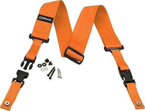 - DiMarzio DD2000 Cliplock Nylon Guitar Strap (Orange)