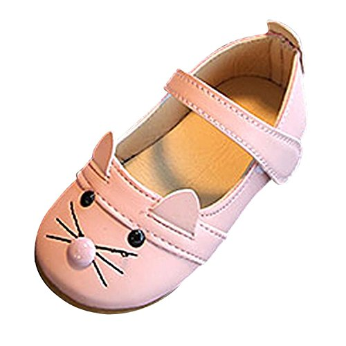 Clearance!Princess Shoes for Kids,SimayixxGirl Shoes, Baby Fashion Princess Cat Dance Nubuck Leather Single Shoes (22, Pink)