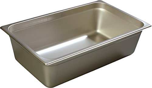 Carlisle Heavy Gauge - Carlisle 608006 DuraPan Heavy 22-Gauge 18-8 Stainless Steel Full-Size Food Pan, 24.9 qt. Capacity, 20-3/4 x 12-3/4 x 6