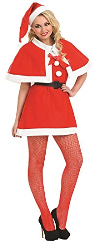 Ladies Sexy Festive Santa Mrs Claus Xmas Christmas Fancy Dress Costume Outfit UK 8-18 (UK 16-18)