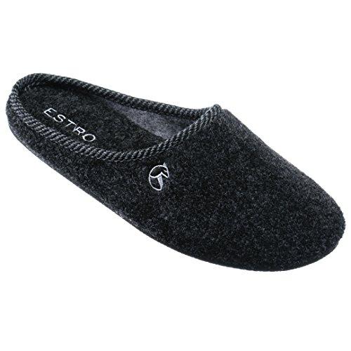 Estro Hommes Pantoufles Dames Pantoufles Pantoufles Chaussures Maison Hommes Hommes Se Sentaient Graphite Unisexe Maison Mule Rex