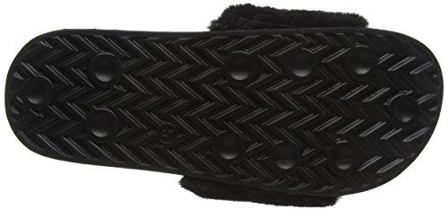 Blk Black Pantoufles Isotoner Slider Fur Ladies Noir Femme Slipper Pv ATwqzTaC8