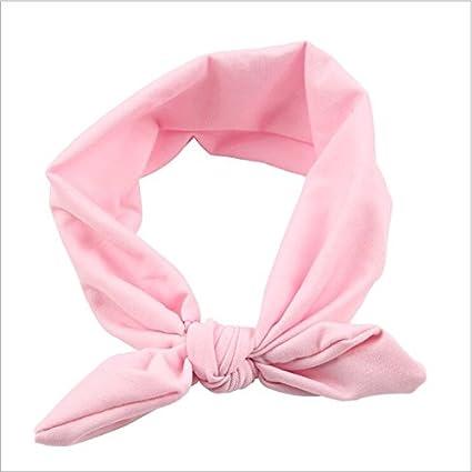 Amazon.com  Baby Cotton Headband White Knot Tie Headband Headwrap ... bbac0aa429e
