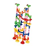 SODIAL 91pcs Building Blocks DIY Ball Track Circuit Marble Race Tower Toy Kid Gift