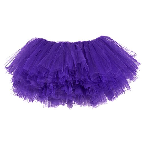 My Lello Little Girls 10-Layer Short Ballet Tulle Tutu Skirt (4 mo. - 3T) -Purple]()